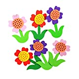 4 PCS Flowers Pattern Children's Room Decorate Products D¨¦cor, 5x7cm