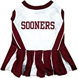 Pets First Collegiate Oklahoma Sooners Dog Cheerleader Dress - Medium