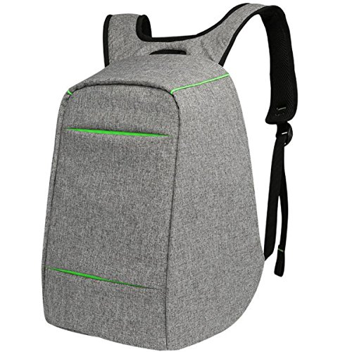 Usb Bags Travel Student Bag Laptop Grey Shoulder Rechargeable Backpack fP5q1cTOw