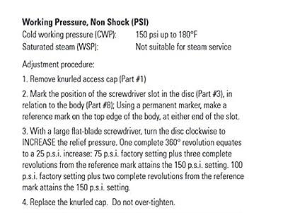 """Legend Valve 111-302NL T-50 No Lead Pressure Relief Valve 75-150 PSI, 1/2"""" by Legend Valve"""