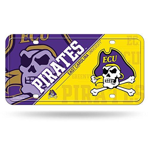 Rico NCAA East Carolina Pirates Metal License Plate Tag