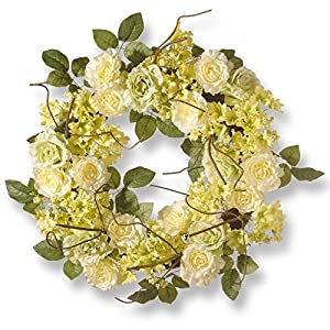 National Tree Company 24 in. Rose Wreath 63