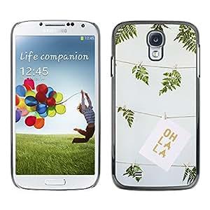 Paccase / SLIM PC / Aliminium Casa Carcasa Funda Case Cover para - Green Summer Oh La Drawing Fern Art - Samsung Galaxy S4 I9500
