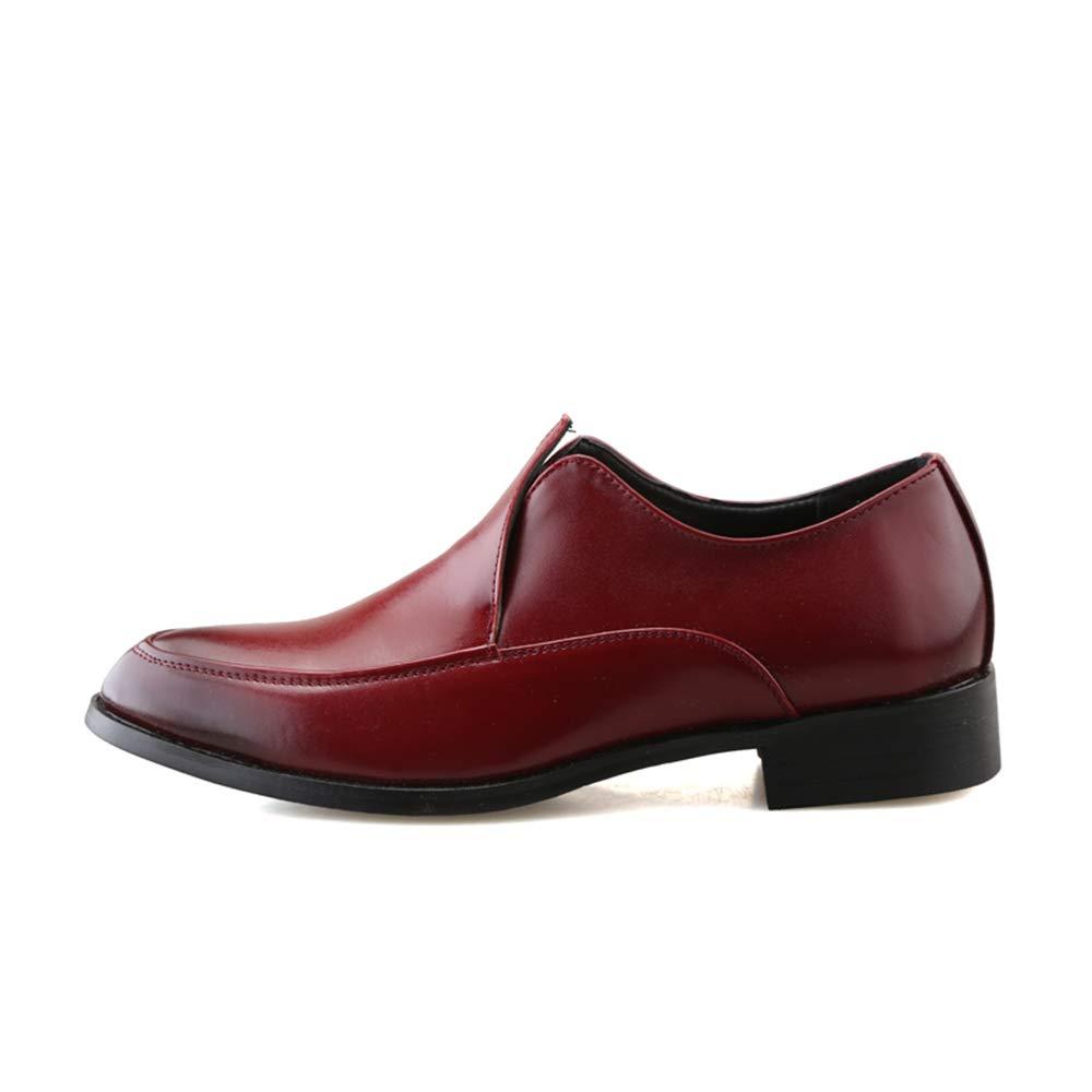 Ofgcfbvxd Mocassini Piatti Casual da Uomo Moda Moda Moda Oxford Comodo Retro colore Confortevole Scarpe a Punta per Lavoro Formale Partito Formale (Colore   Rosso, Dimensione   43 EU) 5afaf5