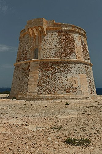 Home Comforts Framed Art for Your Wall Formentera Tower Guards Tower Surveillance 10x13 Frame