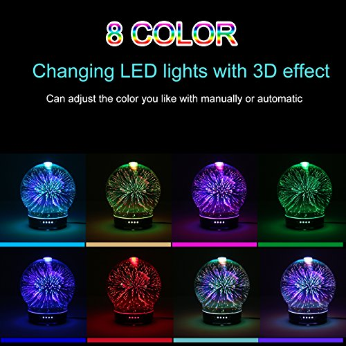 Cool Mist Humidifier 3D Effect Baby Humidifier Essential Oil Diffuser for Home Bedroom Office Living Room Study Yoga Spa