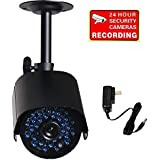 VideoSecu CCTV IR Infrared Bullet Security Camera Day Night Vision Home Outdoor Surveillance 520TVL IR-Cut Filter Switch with Power Supply and Bonus Security Warning Sticker CY5