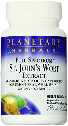 Full Spectrum St. Johns Wort Extract Planetary Herbals 60 Tabs