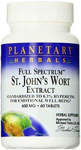 Full Spectrum St. Johns Wort Extract Planetary Herbals 60 Tab
