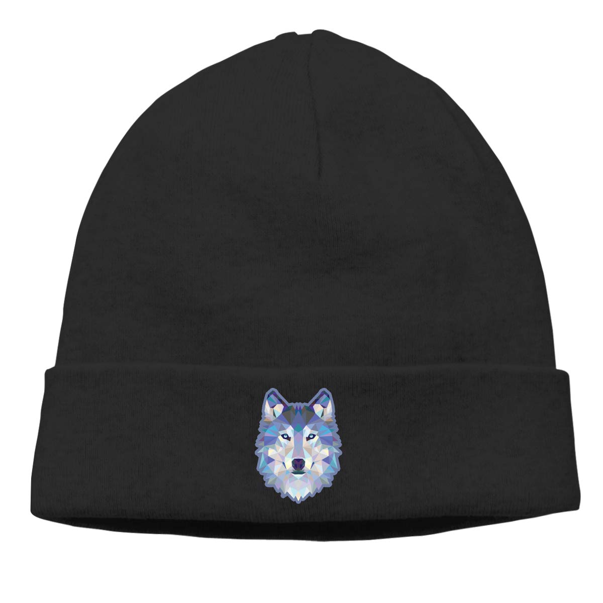 Blue Wolf Printed Cap Men /& Women Serious Style Serious Beanies Knit Cap Skully