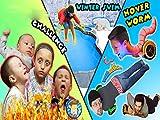 Hoverboard Worm Doritos Roulette Challenge! Winter Pool Swim