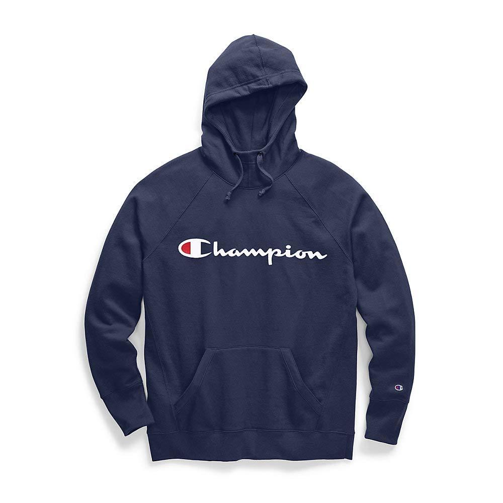 Champion Women's Fleece Pullover Hoodie, Imperial Indigo Large