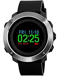 Men's Military Sports Digital Watch Survival Compass Colorful Pedometer Stopwatch Alarm Wrist Watch