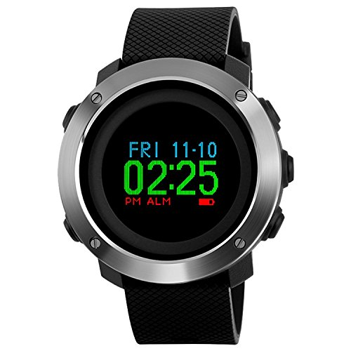 Men's Military Sports Digital Watch Survival Compass Colorful Screen Pedometer Stopwatch Alarm Wrist Watch