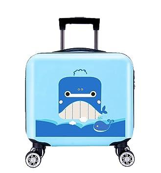 88691f12b8b2 Amazon.com: GURHODVO Kids Luggage Carry On Rolling Wheels 16 inch ...