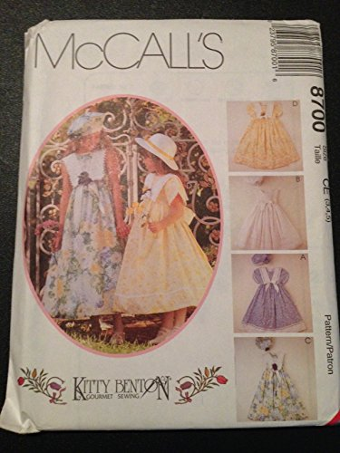 McCall's 8700 Sewing Pattern, Children's and Girls' Dress and Beret, Size CE (3,4,5)