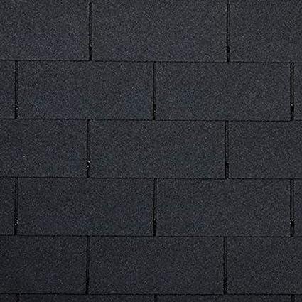 betún rectángulo forma Negro teja 10 unidades (3 m²) Tejas techo betún. Ladrillos