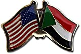 ALBATROS Pack of 3 USA American Sudan Flag Lapel Pin for Bike Hat and Cap for Home and Parades, Official Party, All Weather Indoors Outdoors