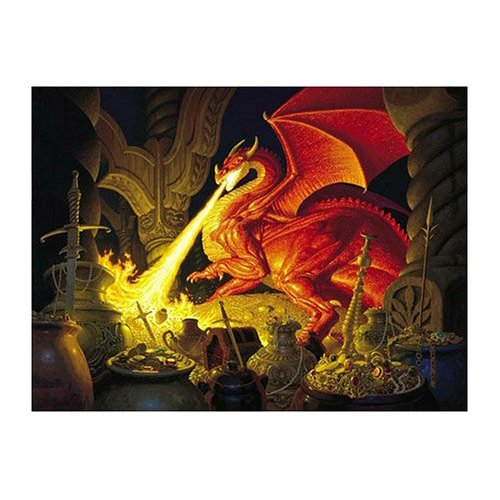 Smaug Dragon a 1000-Piece Jigsaw Puzzle by Sunsout Inc