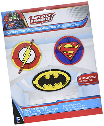 Justice League Honeycomb Decorations, Party Favor -