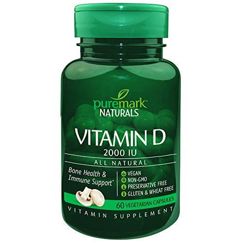 Puremark Vitamin D 2000 Iu Vegetarian Capsules, 60 Count