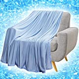 RHF Cooling Blanket, Cooling Blankets, Cooling Blankets for Sleeping, Cooling Blanket for Bed, Summer Blanket, Cool Blanket, Lightweight Blanket, Cooling Blankets for Night Sweats(71' × 79')