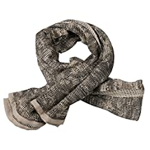 IRQ Tactical Military Neck Scarves for Men Camo Knitting Mesh Net Sniper Head Face Veil Wargame Outdoor Sports