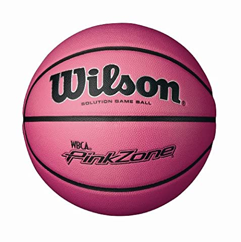 Wilson NCAA WBCA Pink Zone Solution Game Basketball (28.5-Inch) - Wilson Solution Ncaa Basketball