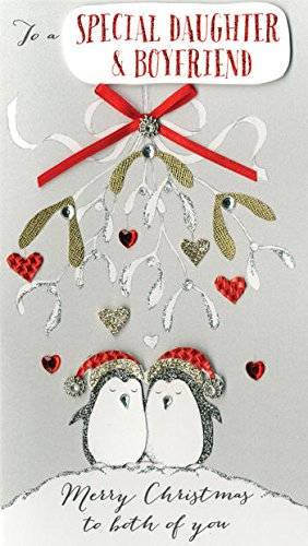 special daughter boyfriend handmade christmas card xcdc154 - Boyfriend Christmas Card