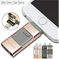 128 GB New USB i-Flash Drive Device Memory Stick OTG For iPhone iPod IOS Android (Rose Gold)