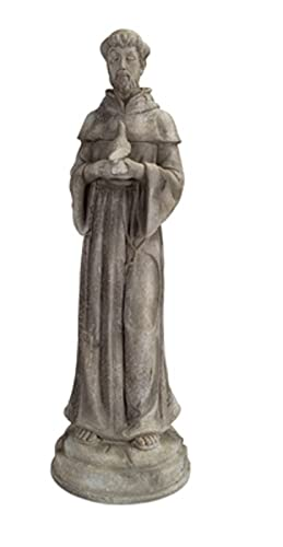 St Francis Statue Patron Saint Of Animals 34 Inches Tall