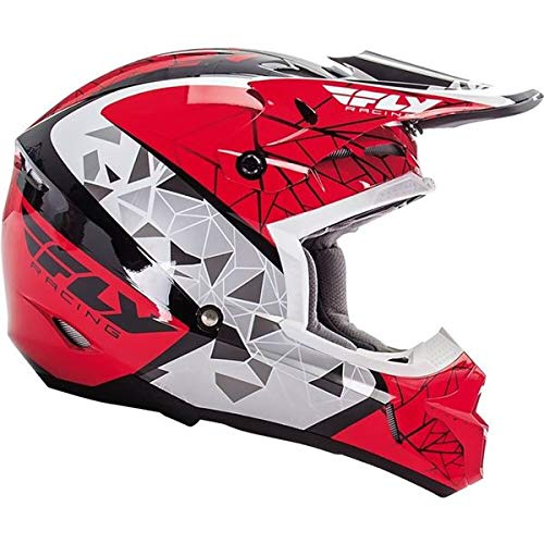 Fly Racing Unisex-Adult Full-face-Helmet-Style Kinetic Crux (Red/Black/White X-Large