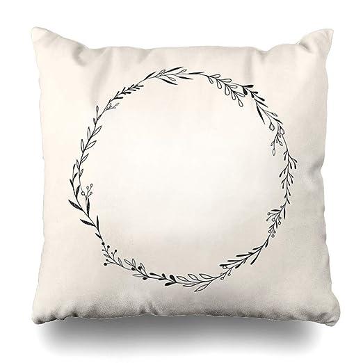 Pillow Home Cojín Funda de Almohada Cinta Doodle Ronda ...