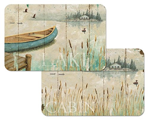 Canoe Cattails Reversible Washable Placemats