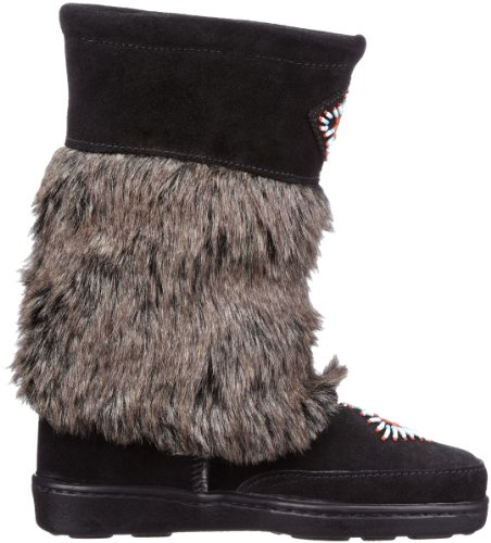 Minnetonka Womens Mukluk High Black