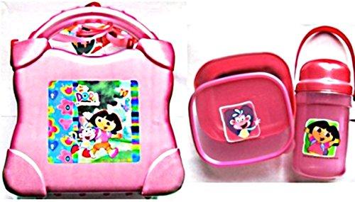 Sets Lunch Hat luftdicht Dora die Entdeckerin + Trinkflasche + kleine rosa Dose