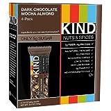 Kind Gluten Free Dark Chocolate Mocha Almond Nutrition Bars 4 - 1.4 Oz Bars (Pack of 3)