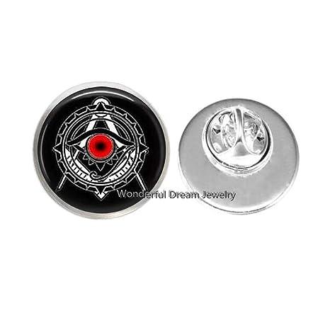 Amazon.com: Broche de satanismo de Illuminati, báfomet ...