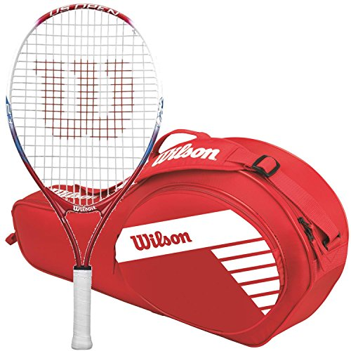 Inch Pre-Strung Junior Tennis Racquet Kit or Set Bundled with a Red Junior 3-Pack Tennis Racket Bag (Perfect for Kids Ages 3-5) ()