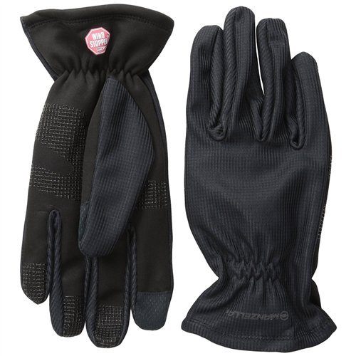 (Manzella Men's Silkweight Windstopper Ultra Touch Gloves, Large, Black)