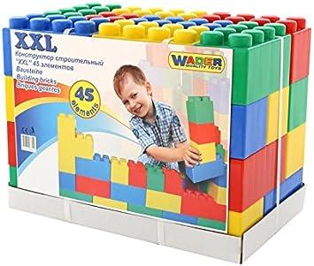Polesie - Juego de construcción de plástico XXL, 45 piezas, Multicolor (PW37510)