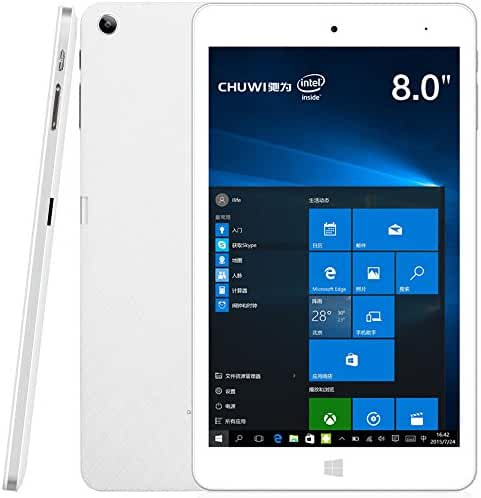 [2017] CHUWI Hi8 Pro 8 Inch IPS Full HD Screen Windows 10 + Android 5.1 Tablet PC with Intel Cherry Trail Z8350 Quad Core, 2G RAM + 32G ROM, 1 Type-C USB Port and 1 Micro HDMI Port