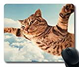 Flying cat Personalized Custom Gaming Mouse Pad Rubber Durable Computer Desk Stationery Accessories Mouse Pads For Gift