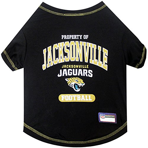 (NFL JACKSONVILLE JAGUARS Dog T-Shirt, Medium. - Cutest Pet Tee Shirt for the real sporty pup)