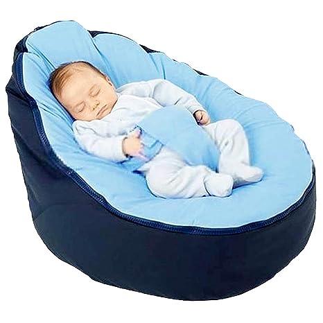 Yous Auto Puff Sofás para Bebé Infantil Sin Relleno,Puff Bebé Sillon Vida Habitación (Azul Bebe, 65_x_56_x_40_cm)
