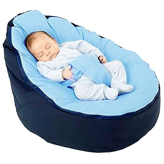 Yous Auto Puff Sofás para Bebé Infantil Sin Relleno,Funda de Puff Bebé Sillon de Vida Habitación (Azul Bebe, 65_x_56_x_40_cm) (Azul, 65_x_56_x_40_cm)