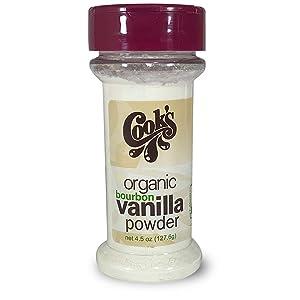 Cook's, Organic Pure Vanilla Powder, World's Finest Gourmet Fresh Premium Vanilla, 4.5 oz