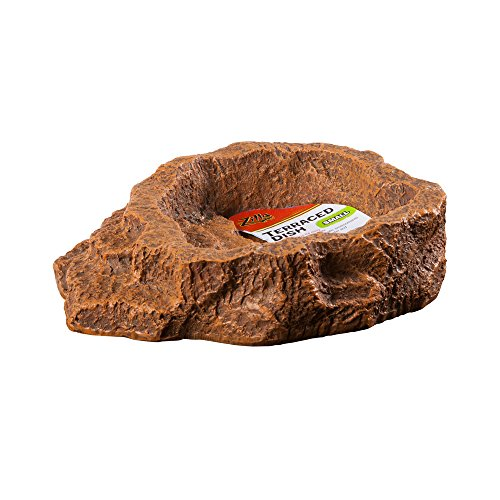 - Zilla Terraced Food and Water Dish for Terrariums (Orange - Small)