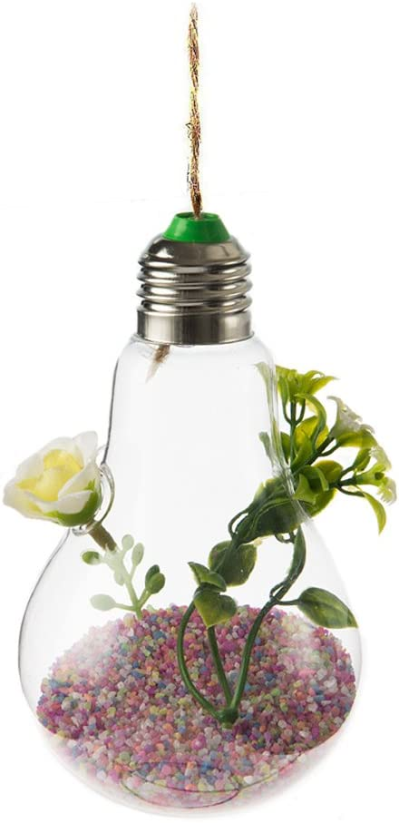 Lumanuby Creative ampoule transparente Vase Fleur Plante Culture hydroponique Container Pot de fleurs /à suspendre pour terrarium Vase en verre ampoule Pot de fleurs pour plante Home Decor 1/pcs