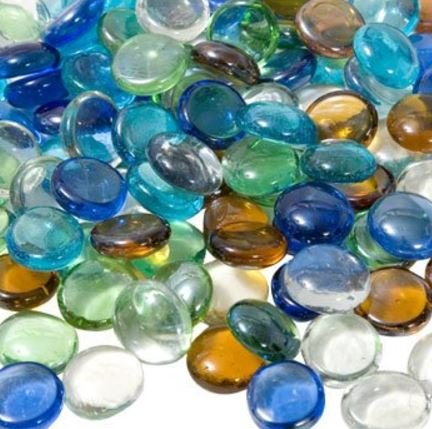(Glass Gems for Vase Accents and Crafting (1 Bag, Mixed Color Gems))